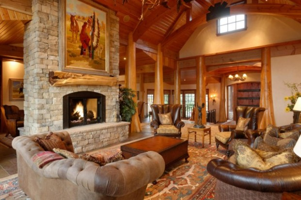 Interior Cozy Homes 7 cozy homes where youd love to be snowed in soft leather seating a roaring fireplace and soaring ceilings make this glenwood springs co